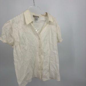 The Territory Ahead cream linen shirt NWOT Large